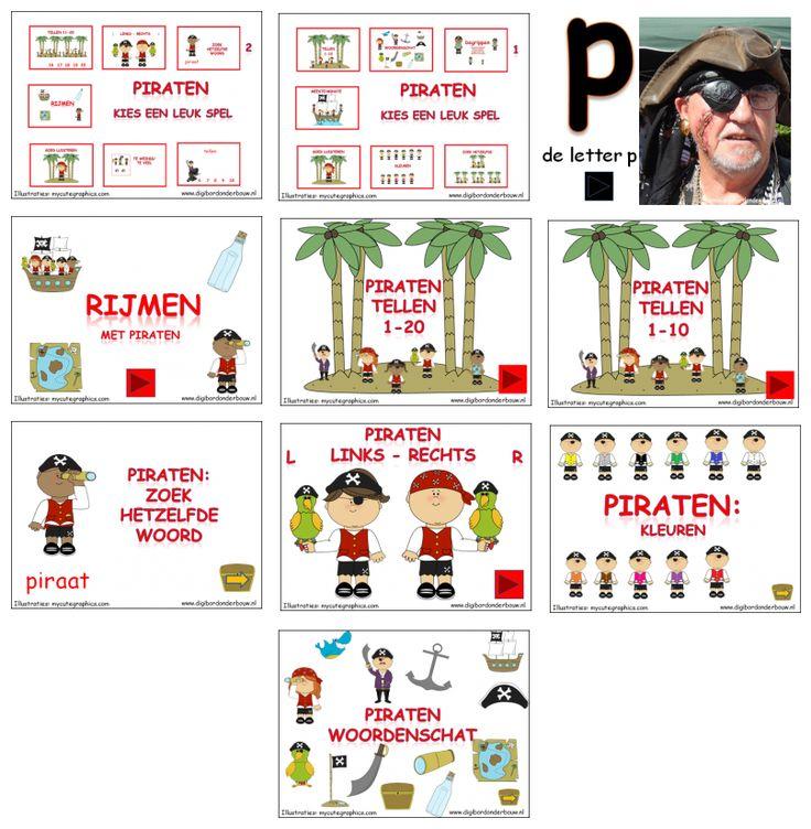 10 digibordlessen over piraten. http://digibordonderbouw.nl/index.php/themas/piraten/piraten