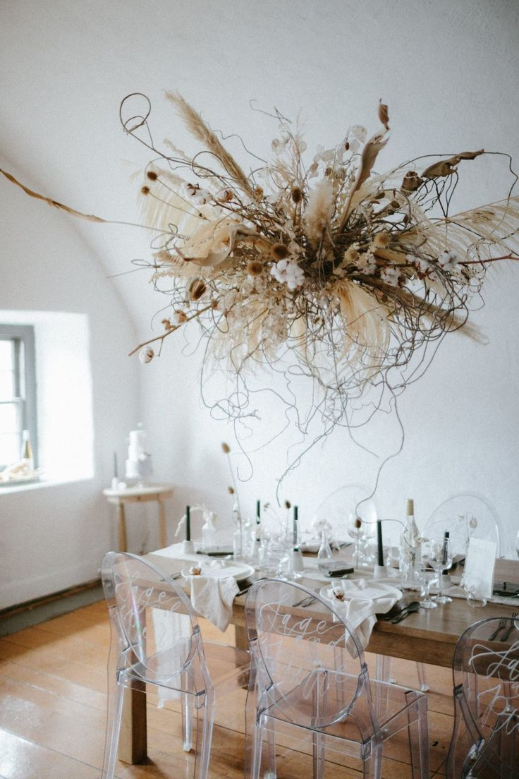 Love Is In The Air Hanging Floral Installation Ideas For The