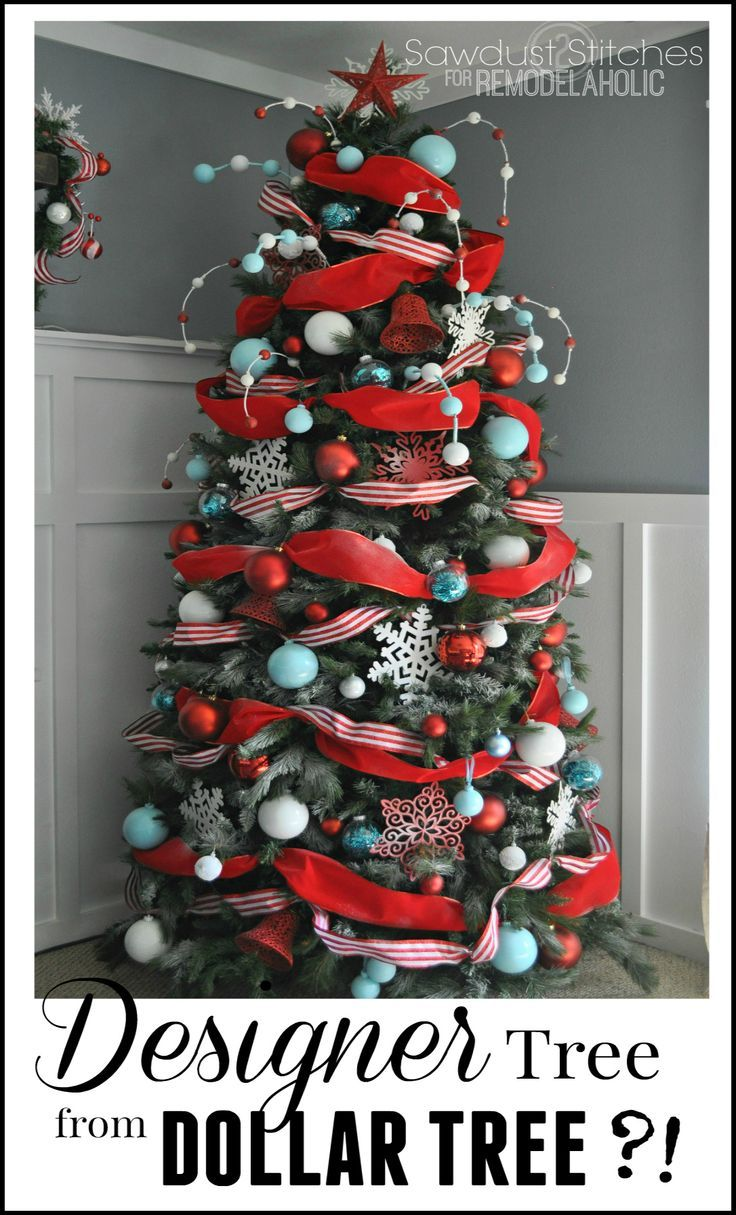 Designer Look Christmas Tree Using Dollar Store Supplies Diychristmastreee Designert Christmas Tree Design Christmas Tree Decorations Christmas Tree Themes