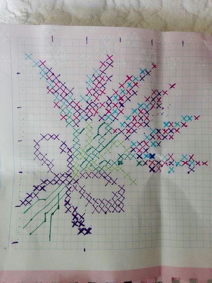 Lavender bouquet pattern