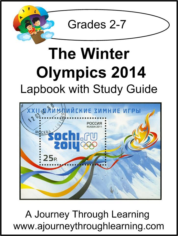Winter Olympics 2014 Lapbook with Study Guide-1.00!