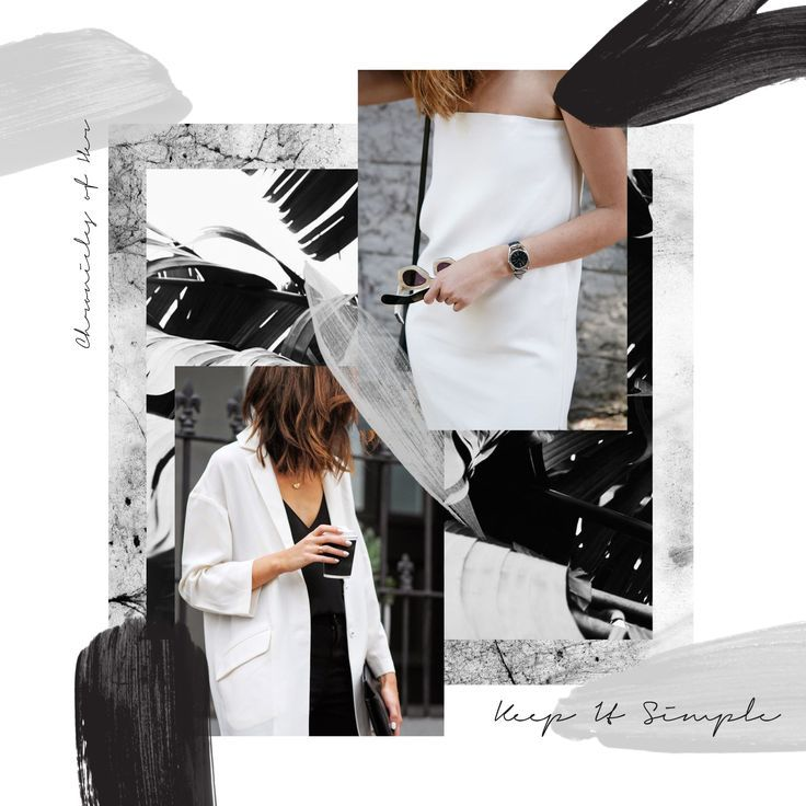 Layout Graphic Design Inspiration: Fashion Collage, Layout
