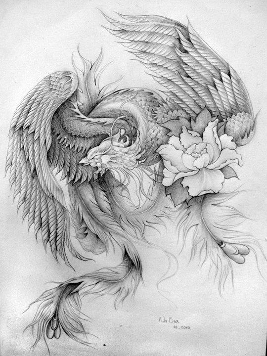 эскизы и картинки феникса надеюсь, что вам