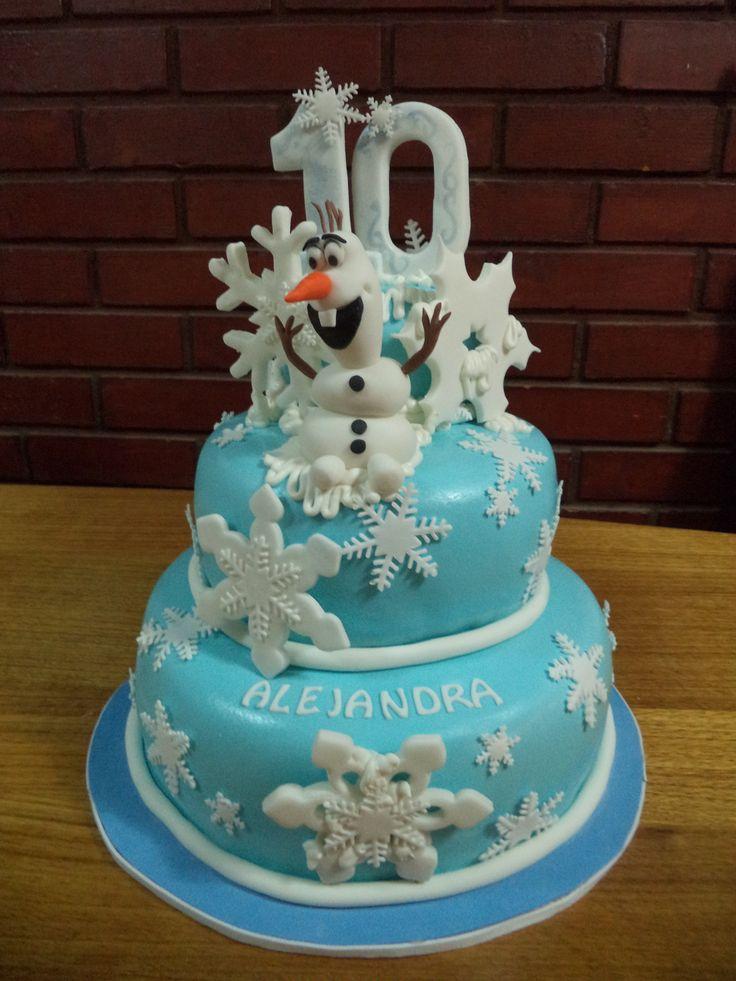 #Frozen #Olaf #fondant #cake by @volovanp  Creada por Volovan Productos Punta Arenas Chile