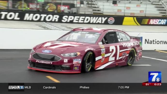 Bristol Motor Speedway will host the biggest college football game ever between Virginia Tech and Tennessee.  This is the Wood Brothers Racing team hokie car!