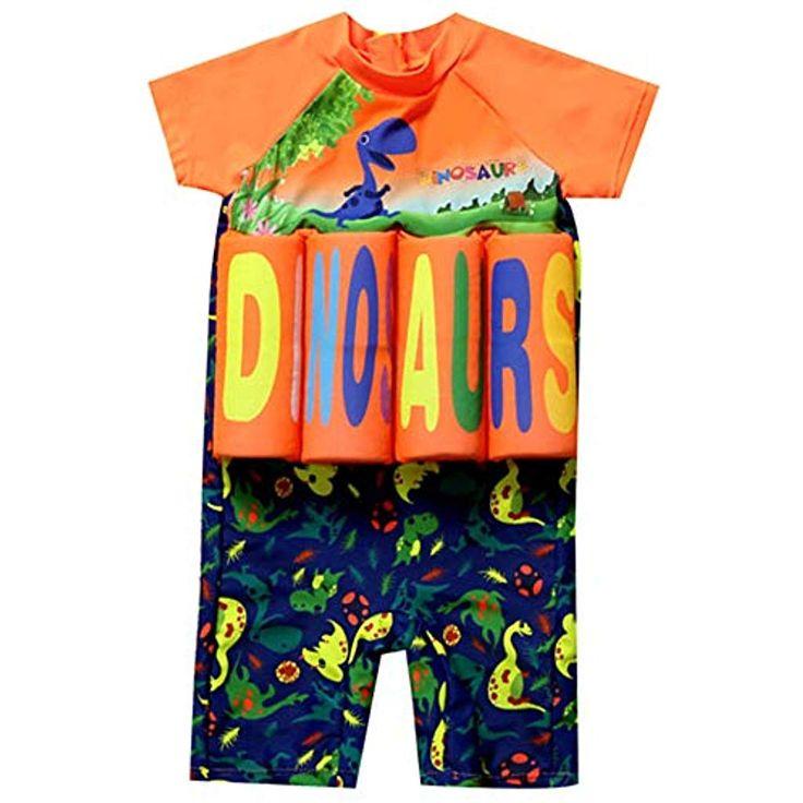 AMIYAN Kinder Jungen Float Suit Bojen-Badeanzug Niedlich Dinosaurier Badeanzug m…