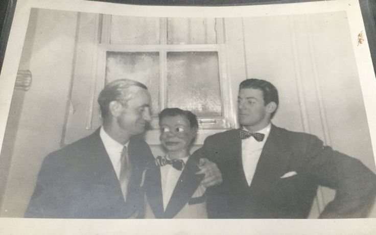 PHOTO of PAUL WINCHELL and JERRY MAHONEY and THE Lone Ranger * SIGNED ON BACK