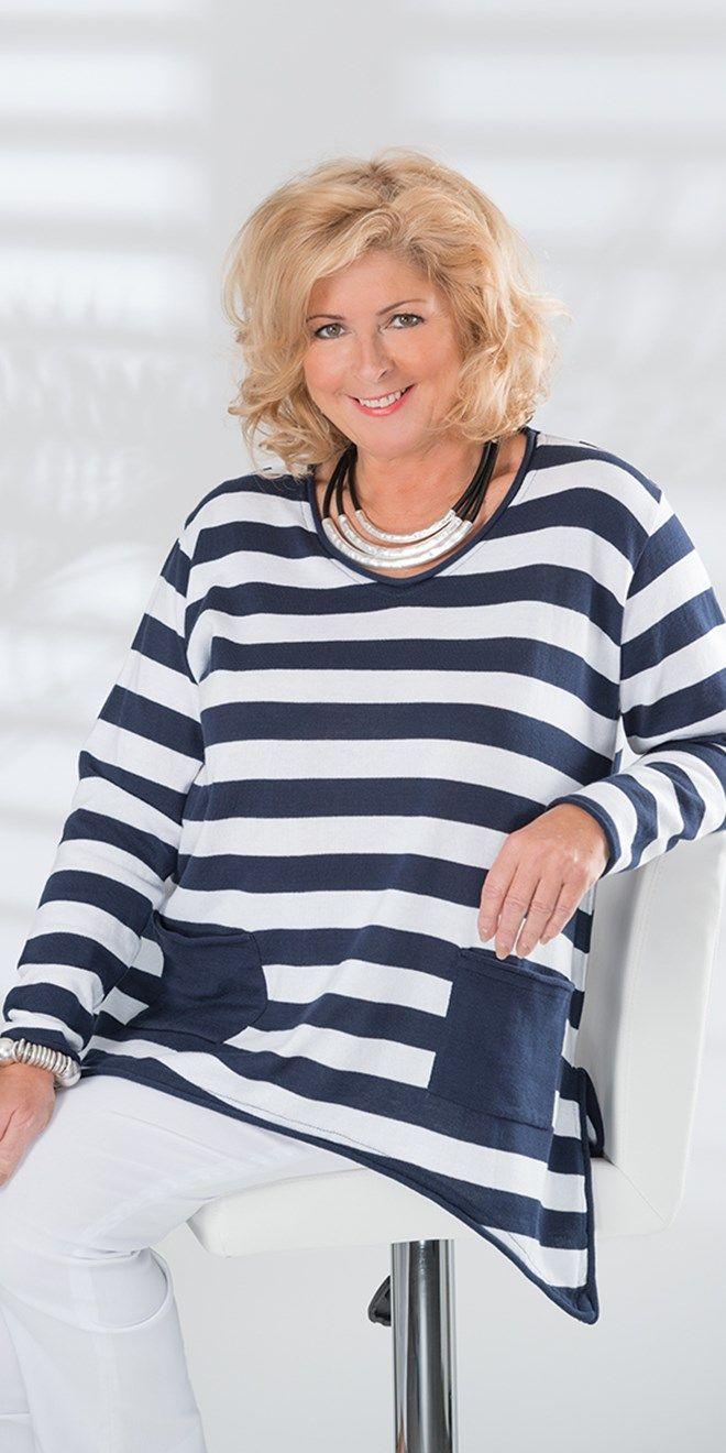 Box 2 navy/white stripe jumper