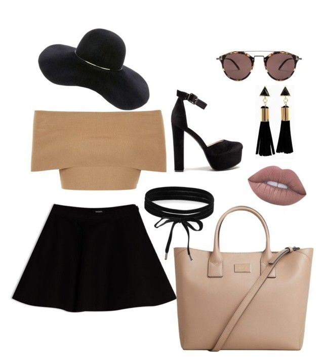 #Summer☀️ by angel1324 ❤️on Polyvore featuring polyvore, moda, style, Blue Vanilla, Max&Co., MANGO, Boohoo, Eugenia Kim, Oliver Peoples, fashion and clothing👗