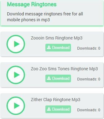 Downlod message ringtones free for all mobile phones in mp3