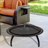 Luxo Barcelona 30 Inch Round Foldable Outdoor Fire Pit