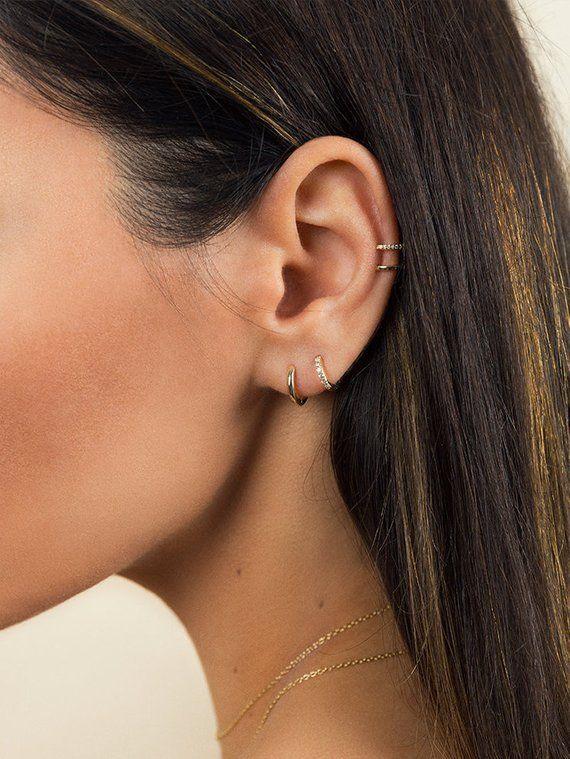 4794c12658a136 Small hoop earrings - Tiny hoop earrings - Gold hoop earrings ...