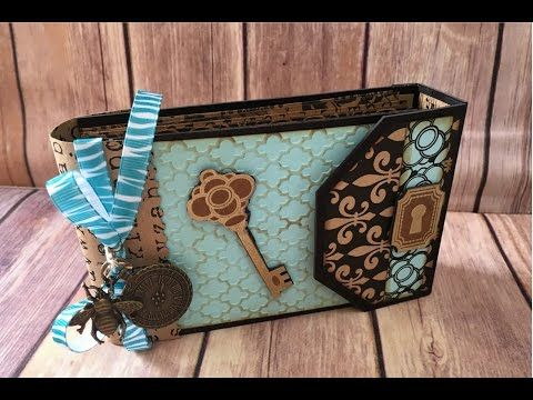 Policy Envelope Mini Album Tutorial Part 2 Closure and Decorating - YouTube