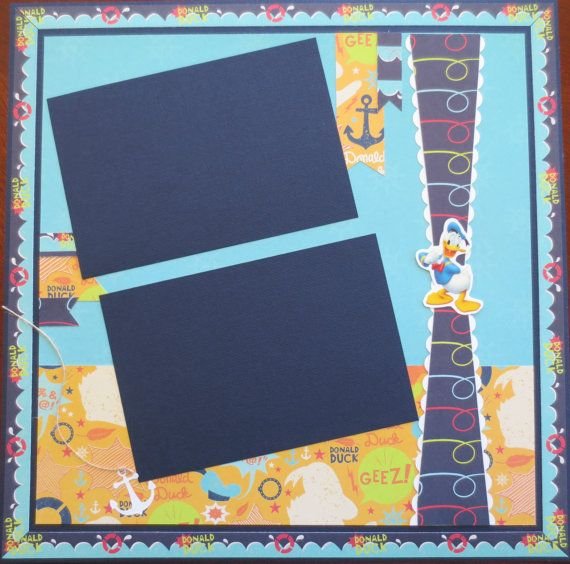 Donald Duck 12 X 12 Single Scrapbook Page Layout