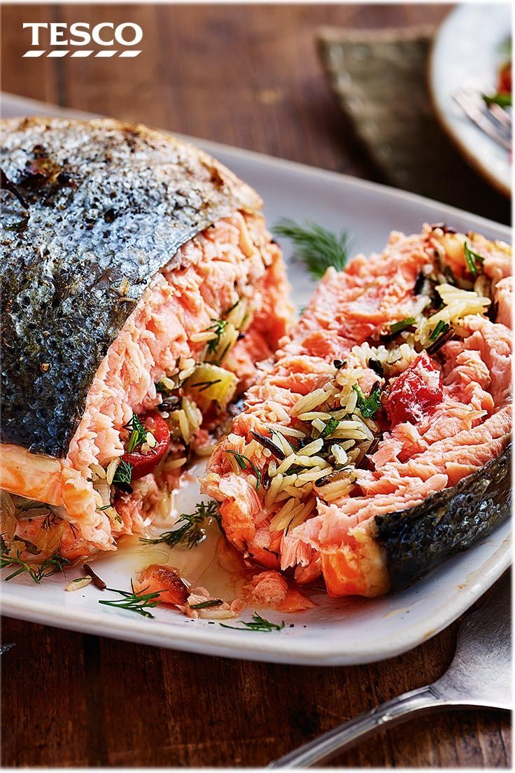 Rice Stuffed Salmon With Herby Buttermilk Sauce Recipe Candy