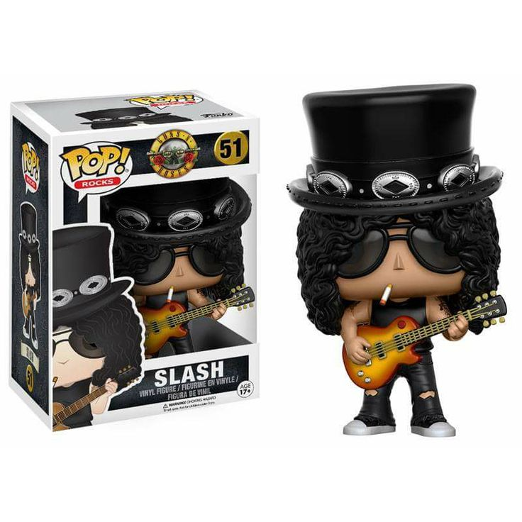Slash from Guns n Roses Brought to you by Pop In A Box, the site Funko Pop! Vinyl shop