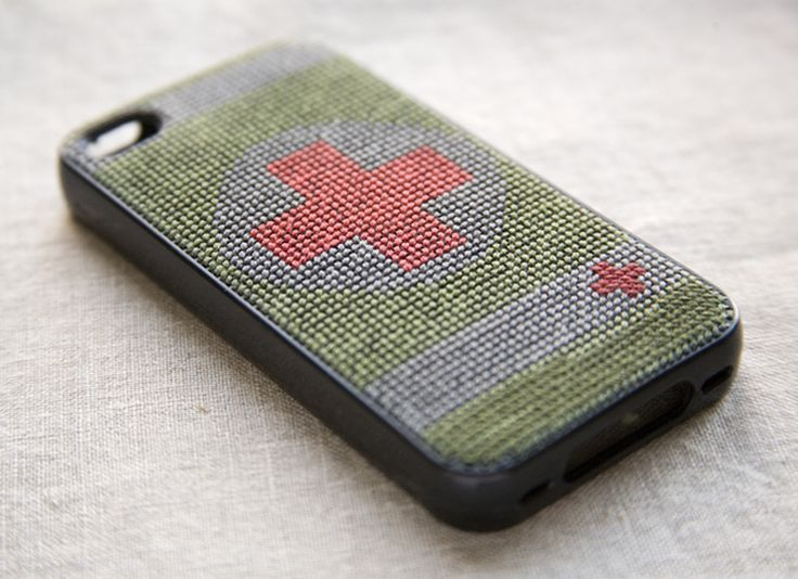 DIY embroidered cell phone case