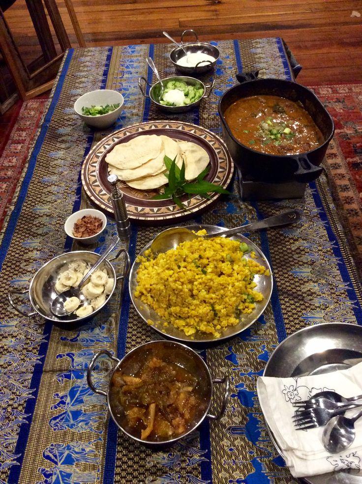 Sri Lankan curry dinner