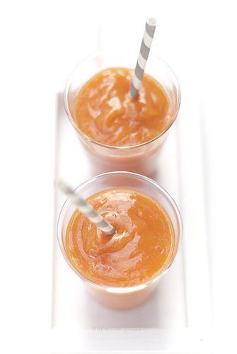 mango, papaya and orange smoothie