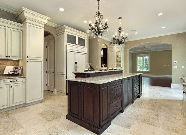 Light Cork Floored Kitchen