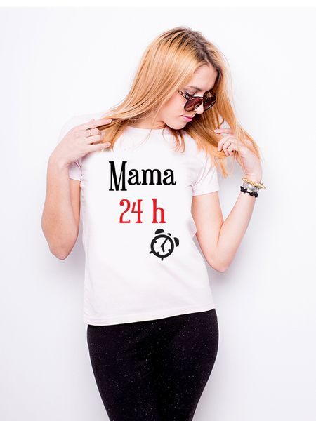 T-shirt z nadrukiem - Mama 24 - full color w Allbag-Allprints na DaWanda.com