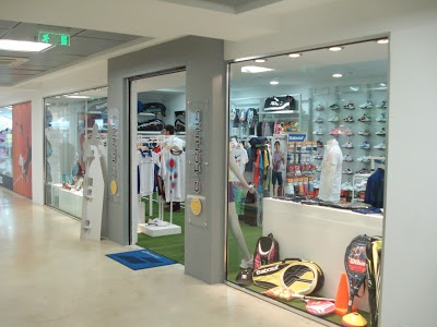 interior spaces, retail: e-tennis outlet store