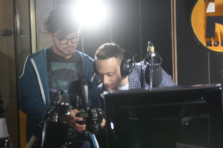 alcune riprese di un corto girato all'interno della ns emittente!