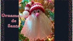 (2) Como hacer ornamento Navideño de Santa Claus con gorro en gancho para árbol de navidad #101 Crochet For Baby - YouTube