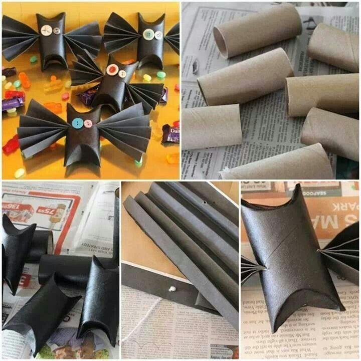 Toliet paper roll bats!!