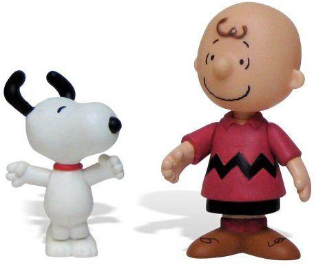 Valentine Charlie Brown Mini Figures Snoopy & Charlie w/ Temp Tatoos @ niftywarehouse.com #NiftyWarehouse #Peanuts #CharlieBrown #Comics #Gifts #Products