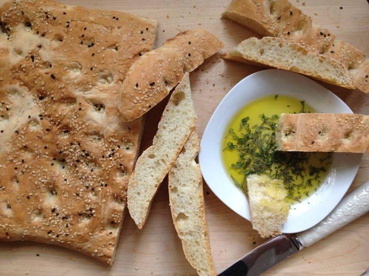 Λαγάνα | Lagana (Greek vegan traditional flatbread dipped in rosemary flavored olive oil  delicious) !  #Bread #CleanMonday #Food #Greek #Traditions #GreekTraditions #Greece #Crete #Ierapetra