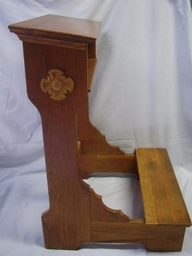 Antique Oak Ornate Church Kneeler Prayer Bench   eBay