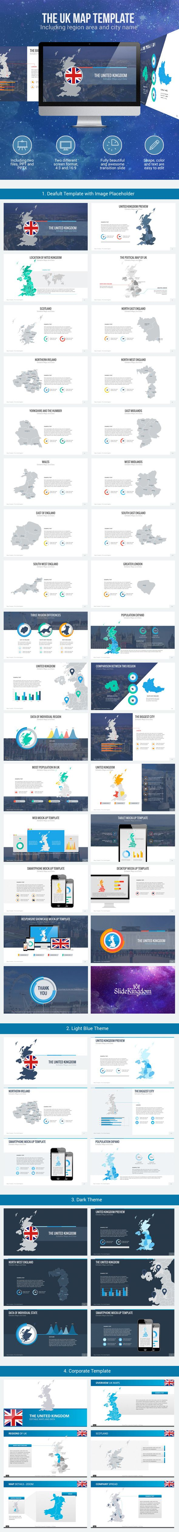 United Kingdom Maps (PowerPoint Templates)