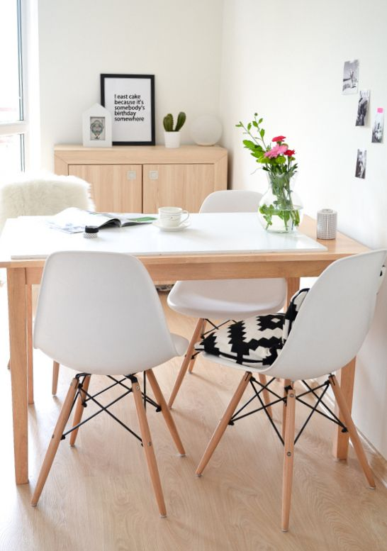 My Dining room / white / Scandinavian style / Eames chairs : Passion ...