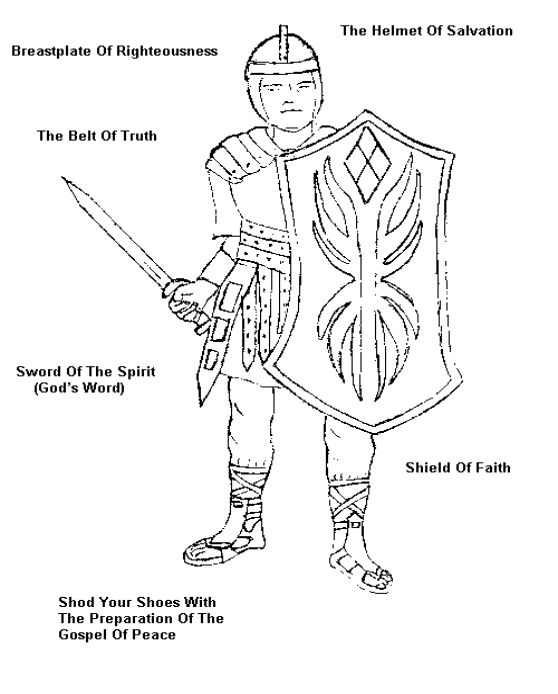 Full Armor Of God Coloring Image
