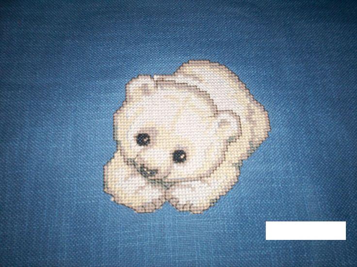 Kissen für Enkel-kleiner Eisbär
