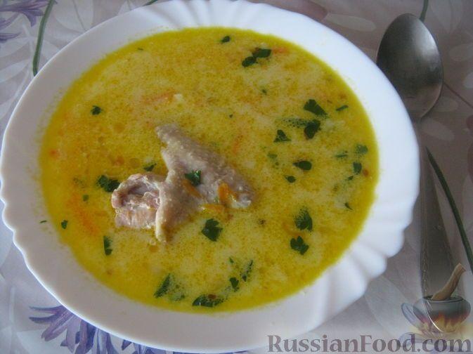 Фото приготовления рецепта: Куриный суп с плавленым сыром - шаг №11