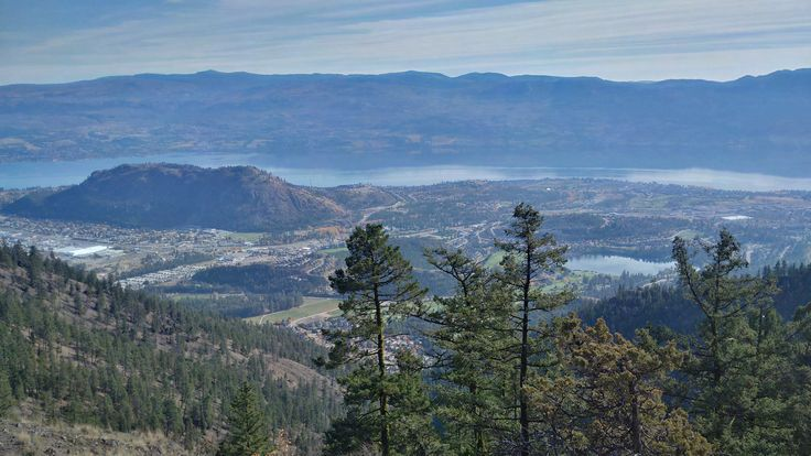 Carrot Mountain bluffs hike in Kelowna.  Excellent views.