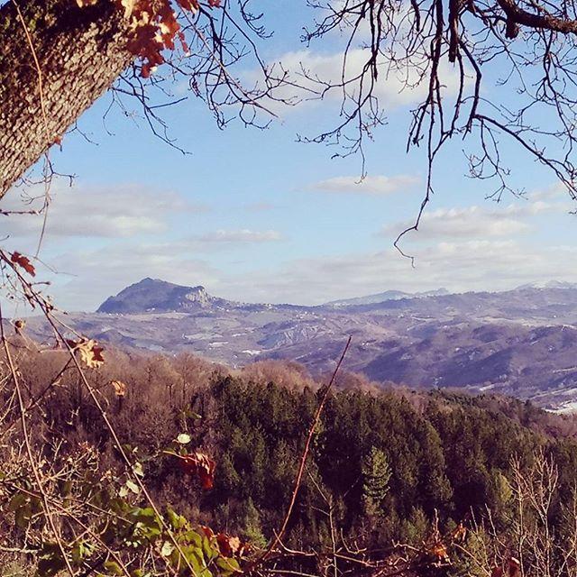 Guardando la #perticara  #saturdaymorning da #Ranchio #tornandoacasa #sarsina #appennino #romagna #montefinocchio