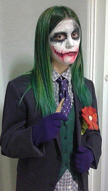 best 20 joker halloween ideas on pinterest joker halloween costume female joker makeup and joker costume - Joker Halloween Costume For Females