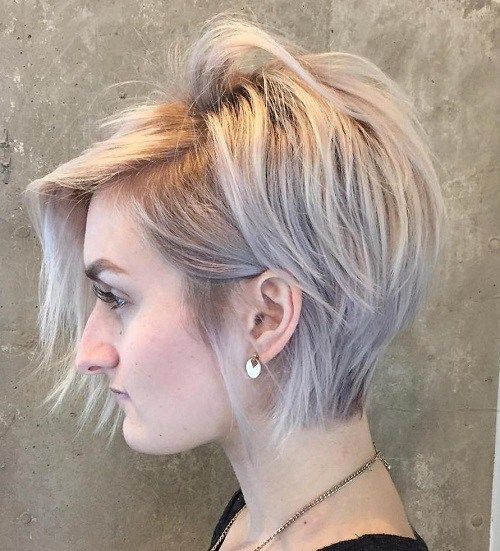 long blonde pixie for thin hair
