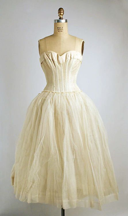 Underdress, Christian Dior, 1955, The Metropolitan Museum of Art Modern undergarments are so rarely this beautiful