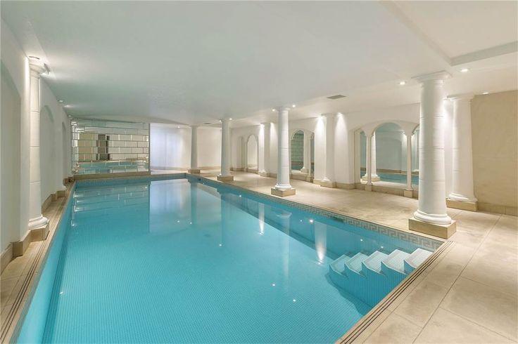 Indoor pool of luxury home in London, England