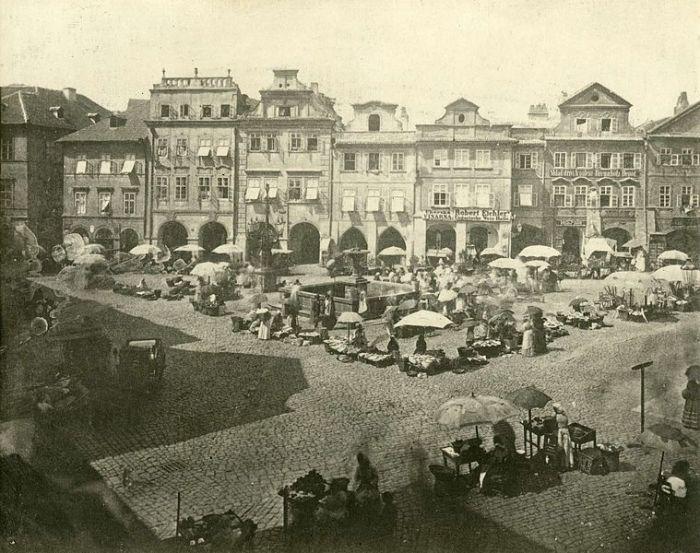 Praha, Uhelný trh | před asanací 1890