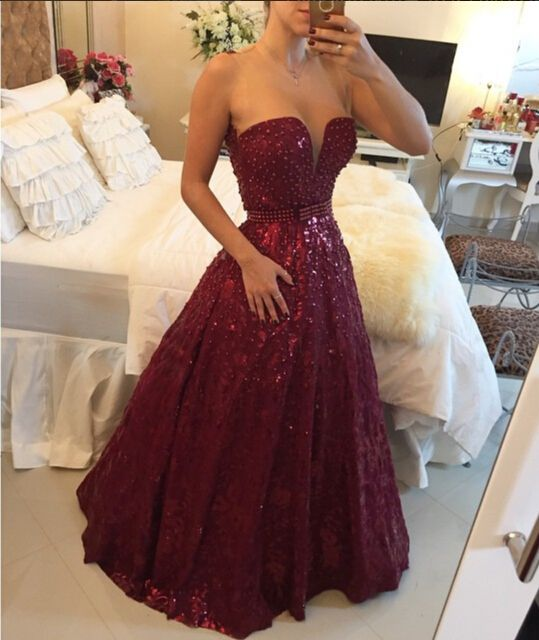 2016 Beading Prom Dresses,Sweetheart Floor-Length Evening Dresses, Real Made Evening Dresses, A-Line on Luulla