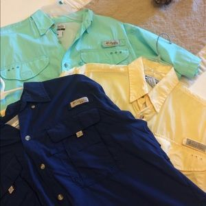 I just added this to my closet on Poshmark: Bundle Men's Columbia PFG Shirts. Price: $30 Size: S