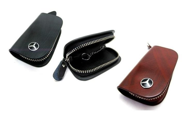 Mercedes benz key pouch key chain key case genuine for Mercedes benz wallet