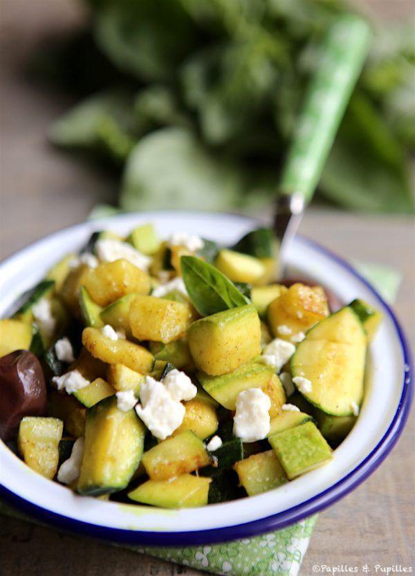 Courgette aux épices, féta, olives noires                                                                                                                                                     Plus