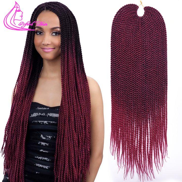 22inch 30roots Ombre Kanekalon Braiding Hair Extension Jumbo Crochet Box Braids Extensions Crochet Braids Curly Crochet Hair