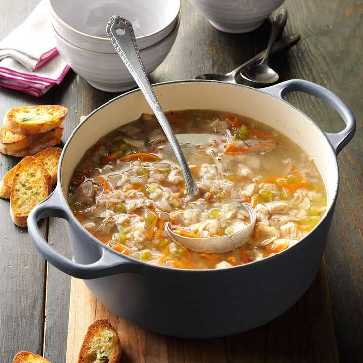 Turkey Soup Recipe -My daughter got this recipe from her husband's mother. As in many households, our turkey gets picked over for a few days after the holidays. When the carcass is almost clean, it's time to make soup! This soup is especially good on cold winter nights when it's snowing...which happens a lot where I live!